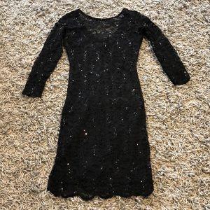 XS stunner black dress